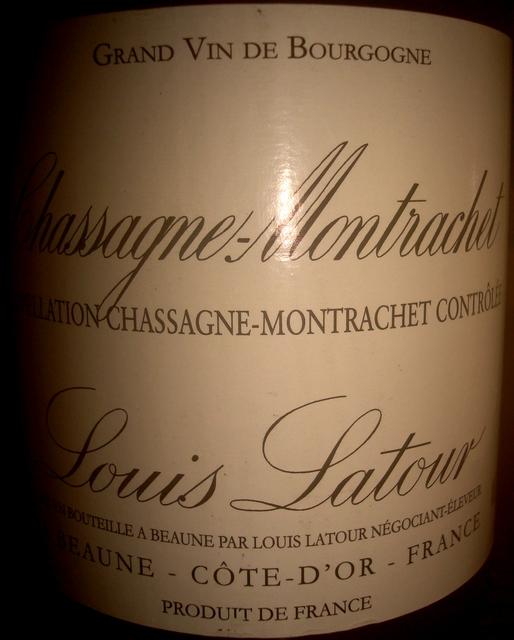 Chassagne Montrachet Louis Latour 2010