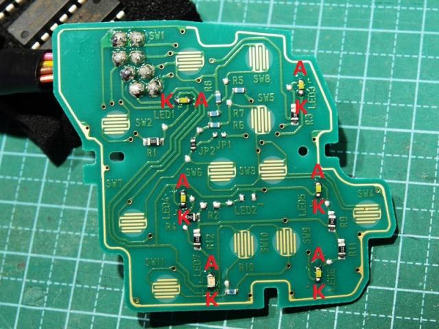 クルコンスイッチのLED打ち替え6
