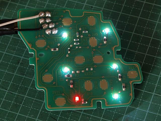 クルコンスイッチのLED打ち替え8