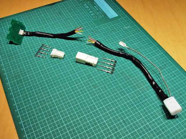 ステアリングスイッチのハーネス加工4
