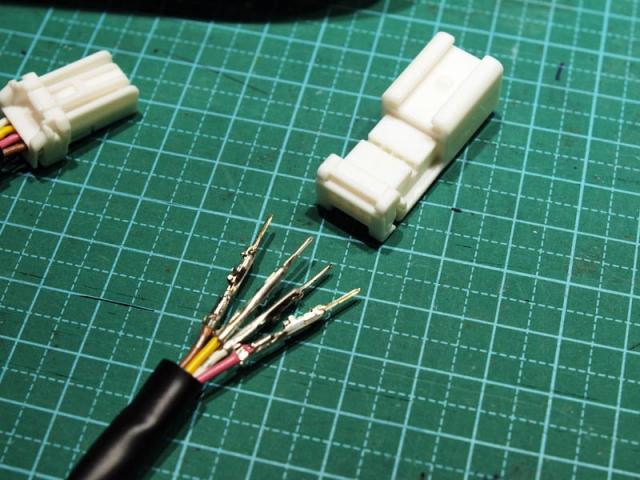 ステアリングスイッチのハーネス加工5