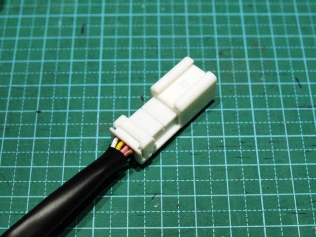 ステアリングスイッチのハーネス加工6