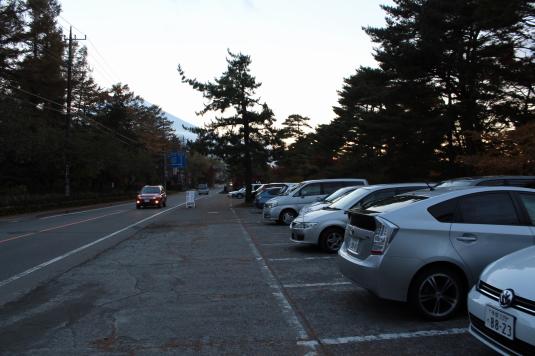 紅葉 山中湖 A 駐車場