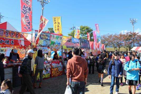 稲穂祭り 屋台