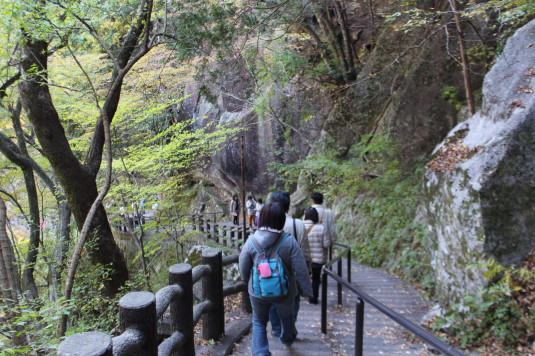 紅葉 昇仙峡 階段