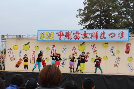 甲州富士川まつり ステージ ダンス