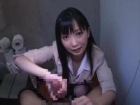 かわいい女教師の寸止めぬるぬる手コキ