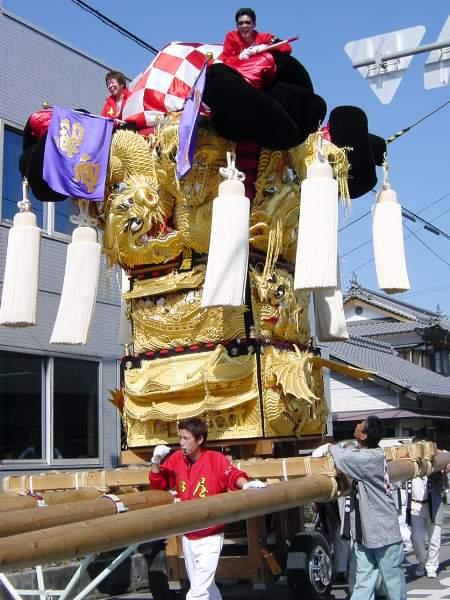 船屋太鼓台 慰問運行 飯積神社祭礼2003 愛媛県西条市 矢野寛一郎氏撮影