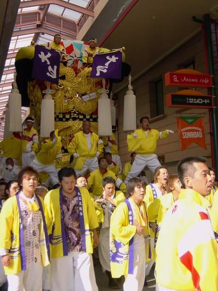 大江太鼓台 新居浜太鼓祭り2003 愛媛県新居浜市 矢野寛一郎氏撮影