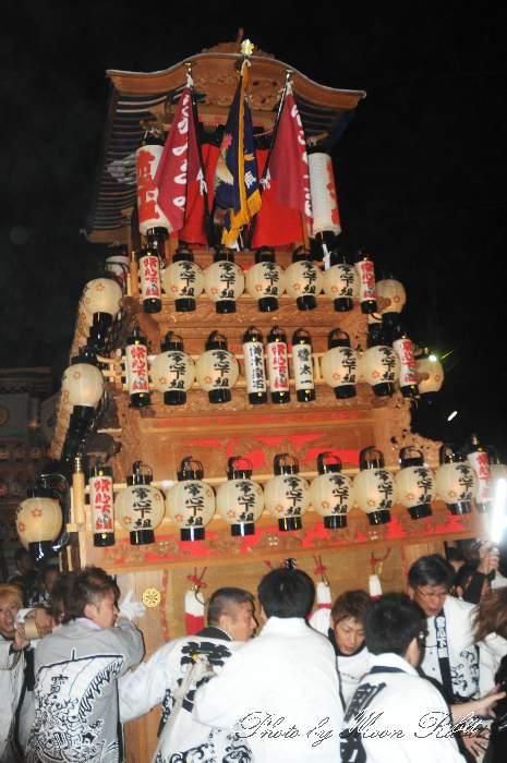 西条祭り2012 常心下組だんじり(中南屋台・楽車) 御旅所 伊曽乃神社祭礼 愛媛県西条市