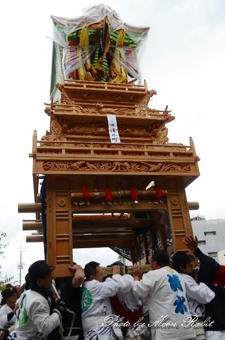 清水町だんじり(屋台) 御殿前 西条祭り2013 伊曽乃神社祭礼 愛媛県西条市