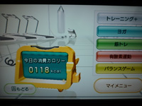 Wii Fit Plus 2013年09月04日の消費カロリー