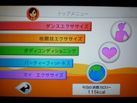 Fitness Party 2013年10月04日カロリー 合計 115kcal