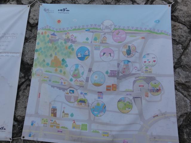 2014年1月9日 梨花洞壁画村 地図