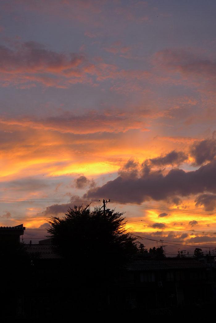 夏の夕焼け 20130724 1