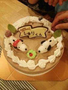 珠里6歳誕生日ケーキ