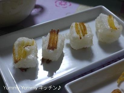 おもちにパスタつけ麺♪乾麺