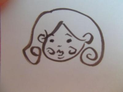 アイライナーで描いた自画像。