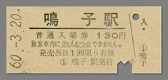 600320入場券_鳴子駅