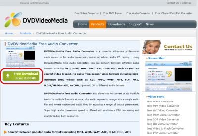 DVDVideoMedia Free Audio Converter ダウンロード