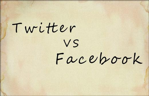 Twitter VS Facebookページ