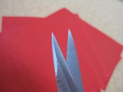 剪紙用のはさみ 先尖り加工