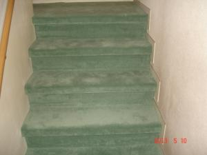カーペット張替した階段(蹴上げあり)