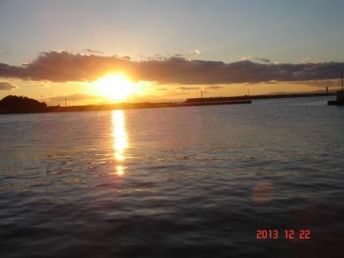 三崎港からの夕日