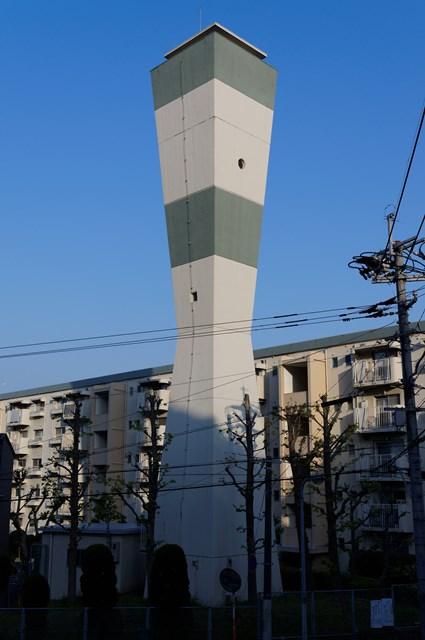 福岡市公社野間台住宅の給水塔