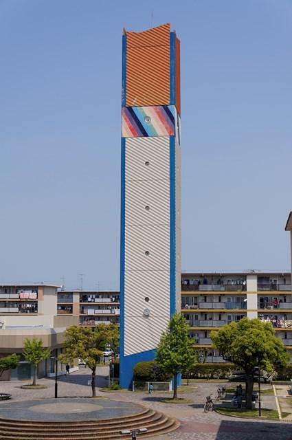 公団星の原団地の給水塔
