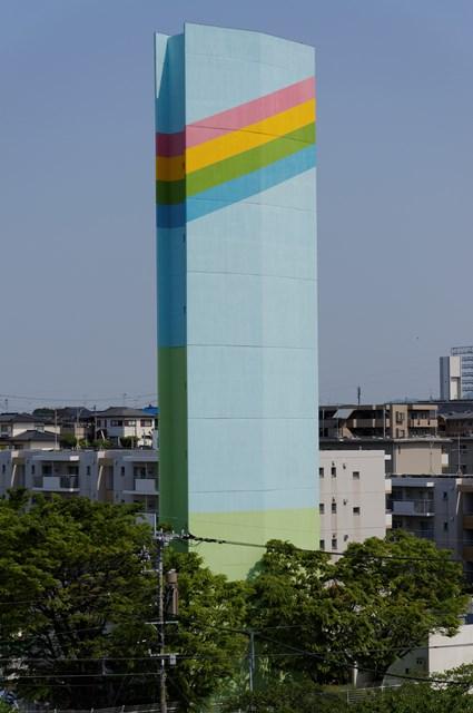 公団堤団地の給水塔