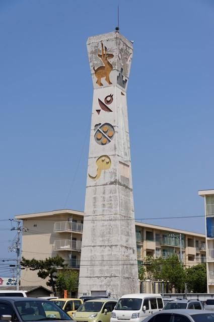 愛媛県営中須賀団地の給水塔
