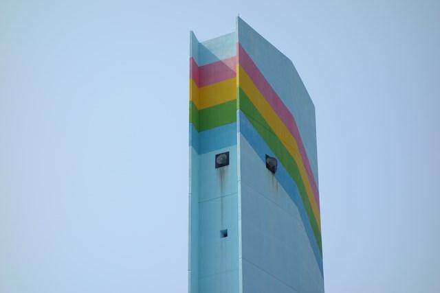 公団堤団地の給水塔頭頂部