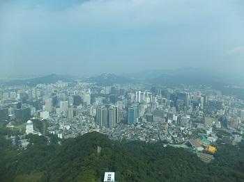 ソウルタワーからの眺め