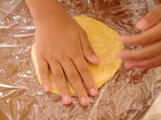 食パンとホットケーキミックスで簡単メロンパン03