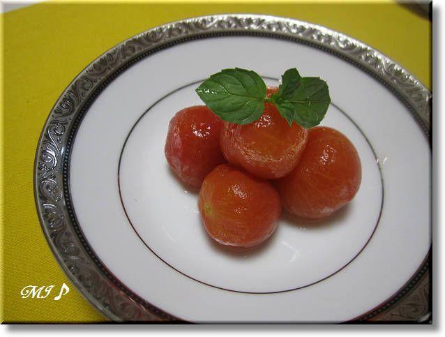 『ミニトマトの冷製』
