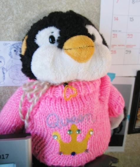 penのピンクのセーター