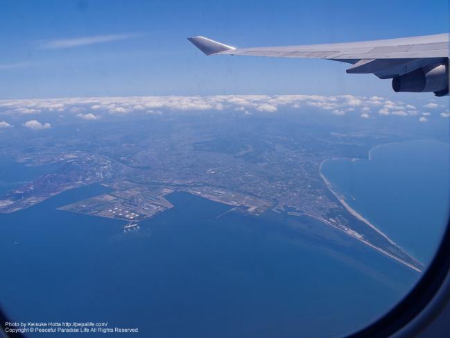 上空から見た千葉県富津岬
