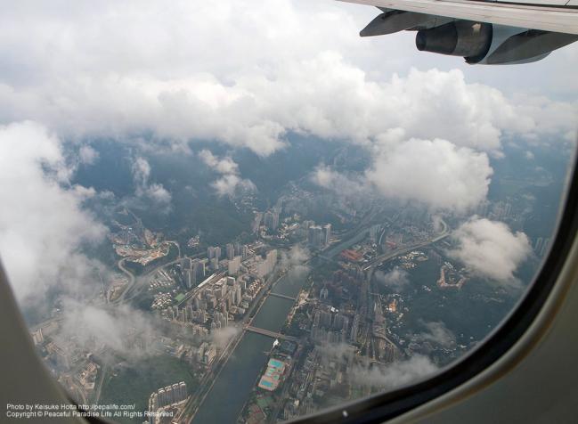 上空からみた香港