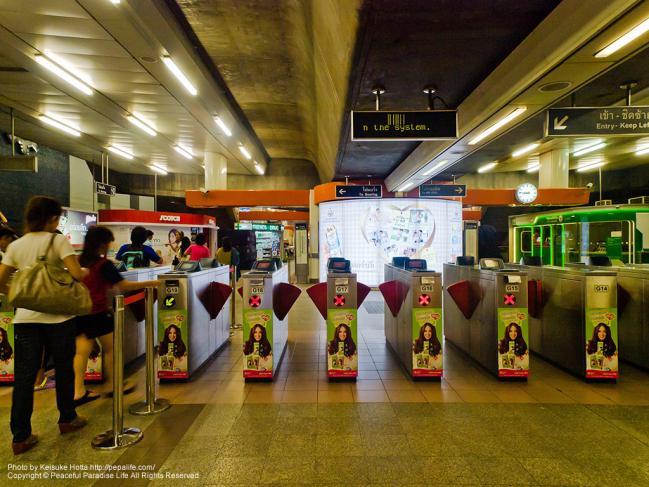 BTS[N3]ビクトリーモニュメント駅(Victory Monument Sta.)の改札