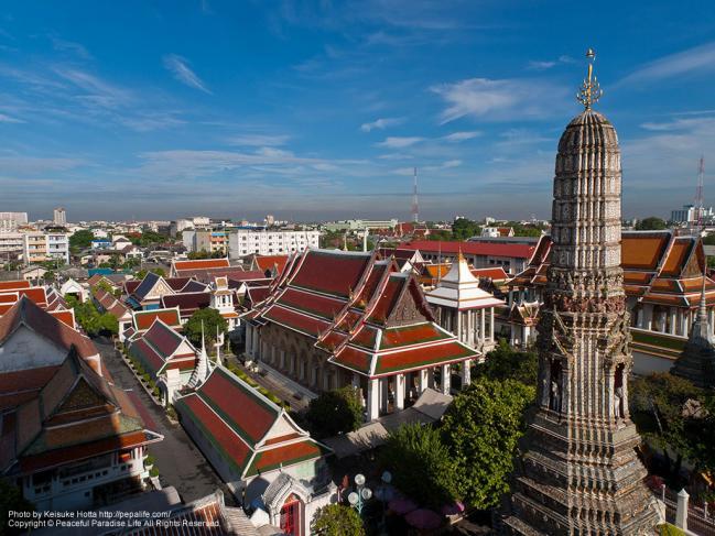 ワット・アルン(Wat Arun)からの眺め