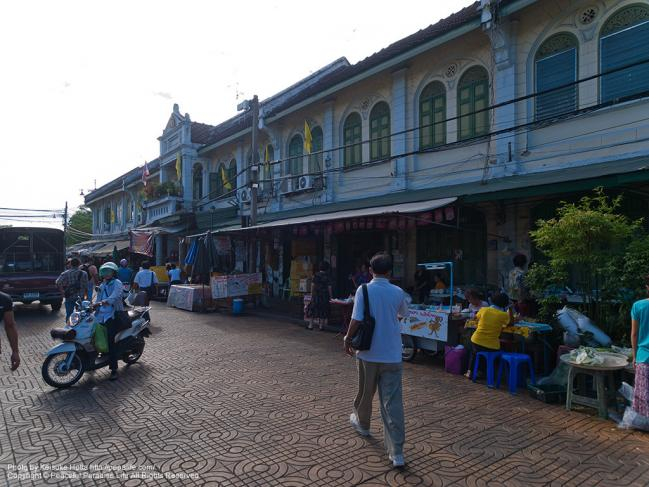 ター・ティアン船着場(Tha Tien)の外の景色
