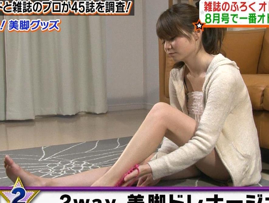 美脚グッズ紹介がエロい  キャプ画像(エロ・アイコラ画像)