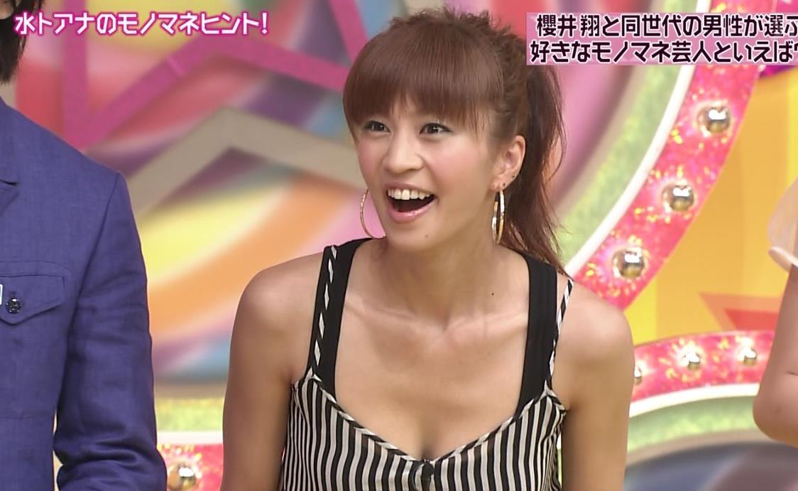 安田美沙子 胸の谷間キャプ画像(エロ・アイコラ画像)