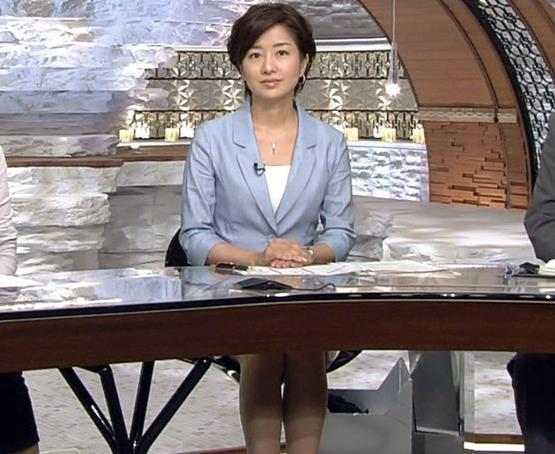 膳場貴子 ミニスカ美脚キャプ画像(エロ・アイコラ画像)