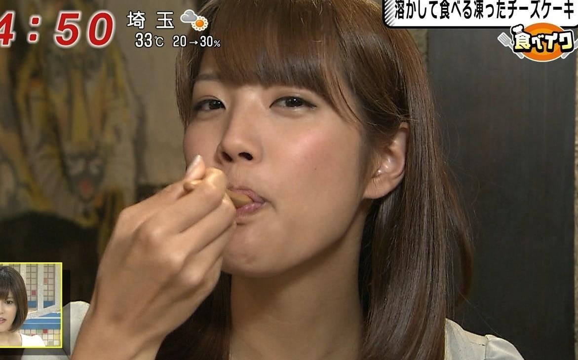 久代萌美 食べているところキャプ画像(エロ・アイコラ画像)