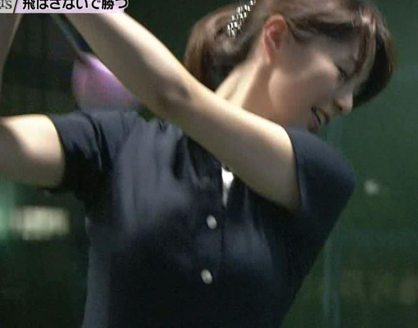杉浦友紀 ゴルフウェアキャプ画像(エロ・アイコラ画像)