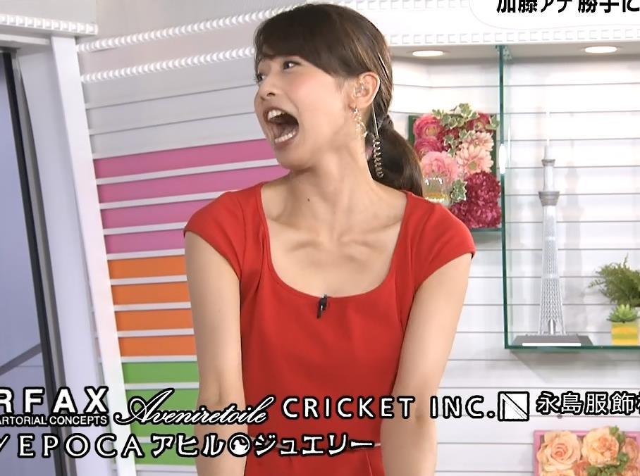 加藤綾子 白い二の腕キャプ画像(エロ・アイコラ画像)