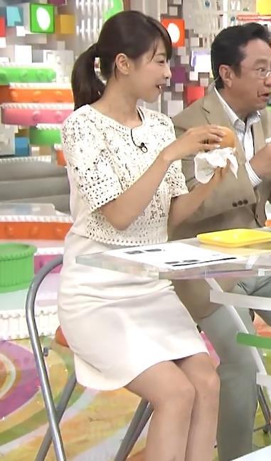加藤綾子 白いミニスカ太ももキャプ画像(エロ・アイコラ画像)