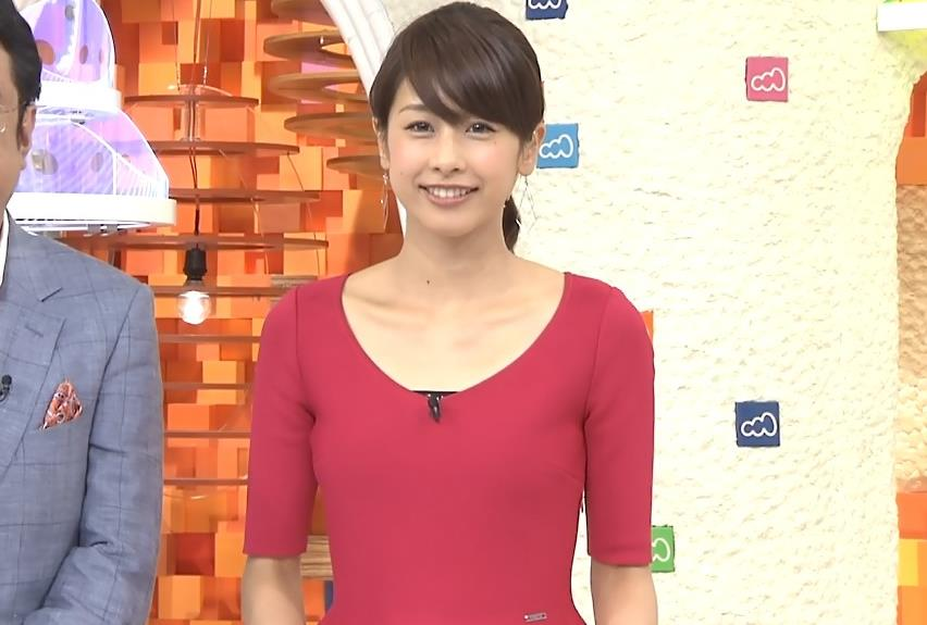 加藤綾子 体のラインがわかるタイトな服キャプ画像(エロ・アイコラ画像)